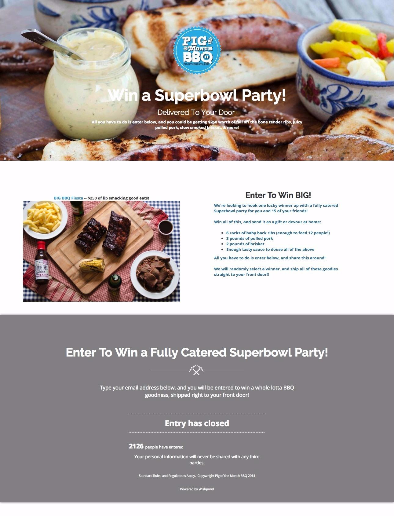 restaurant contest ideas
