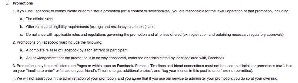 social media contest rules