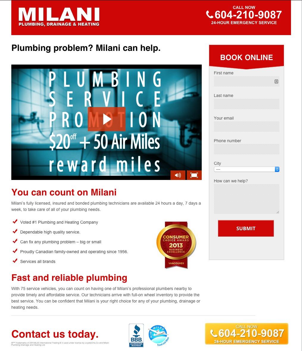 plumbing-landing-page-milani