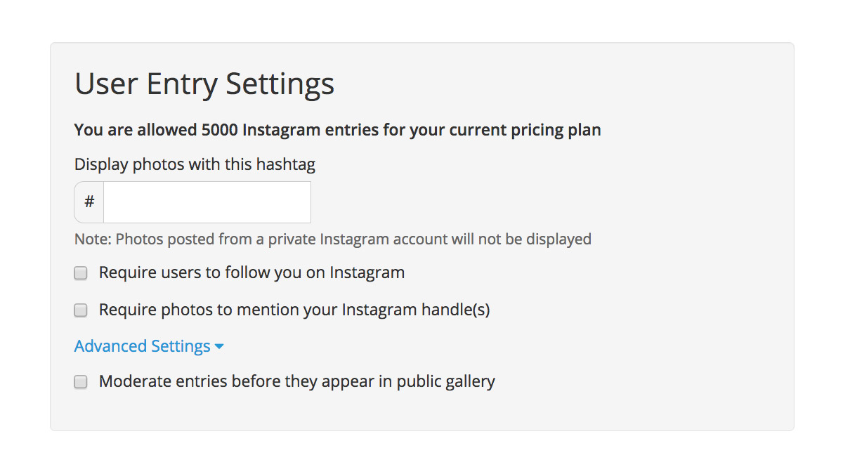 Specify Which Hashtag Photos Must Be Tagged With And Wishpond Will Collect  Them For You Instagram How To Delete Instagram App