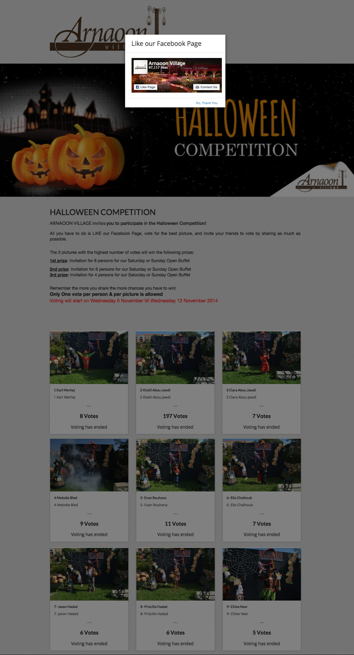 halloween contest examples