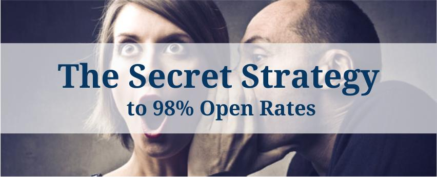 The Secret Strategy to 98% Open Rates [Infographic]