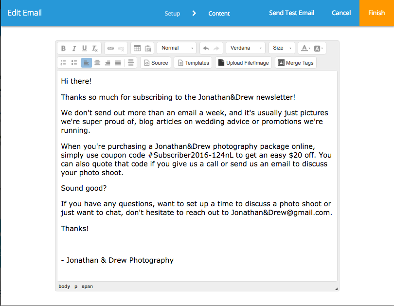 photography marketing automation