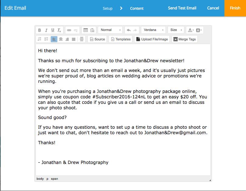 photography marketing automation
