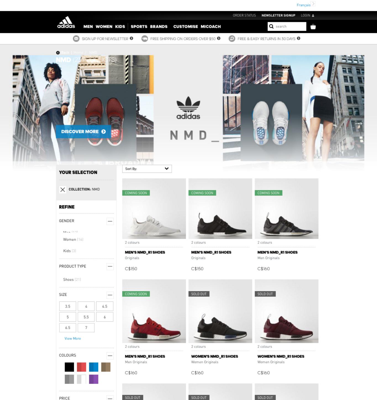 adidas nmd landing page