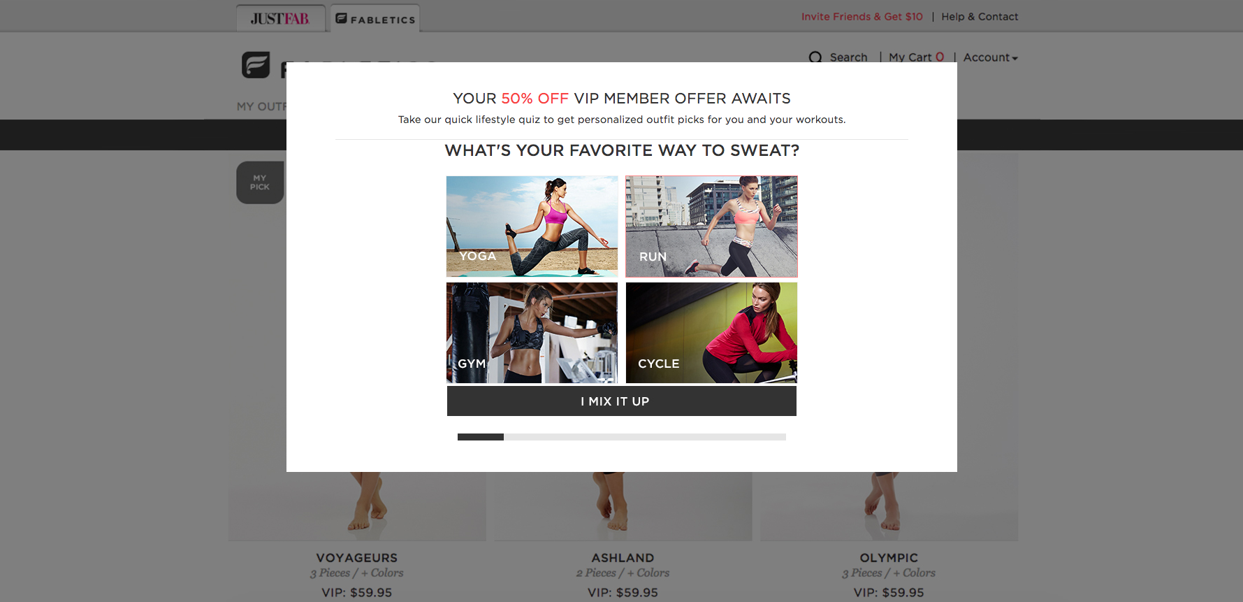 fabletics pop up