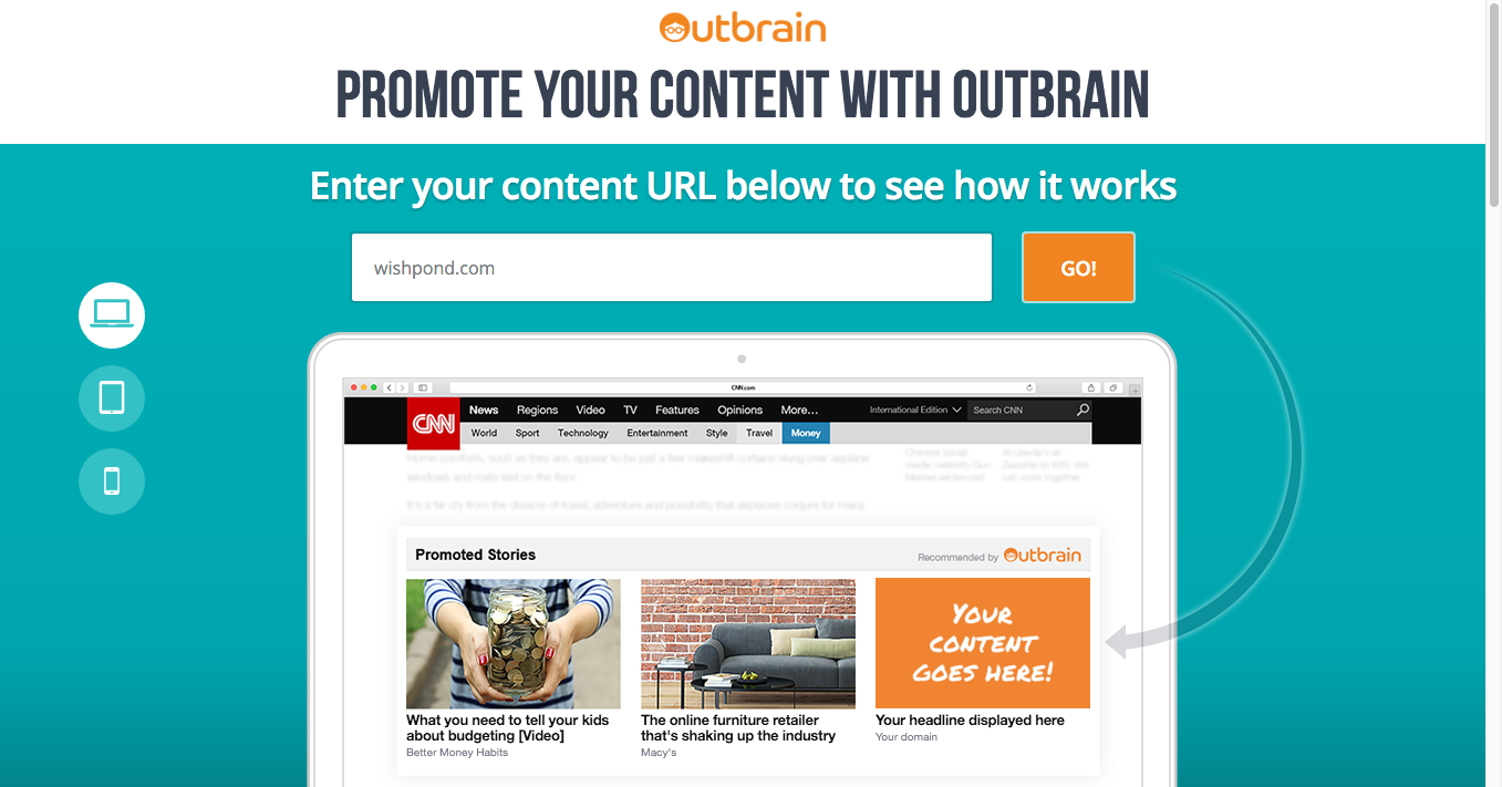 outbrain landing page