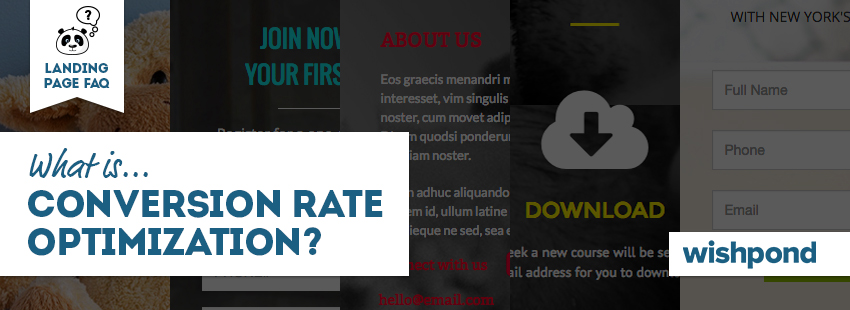 Landing Page FAQ: What is Conversion Rate Optimization?