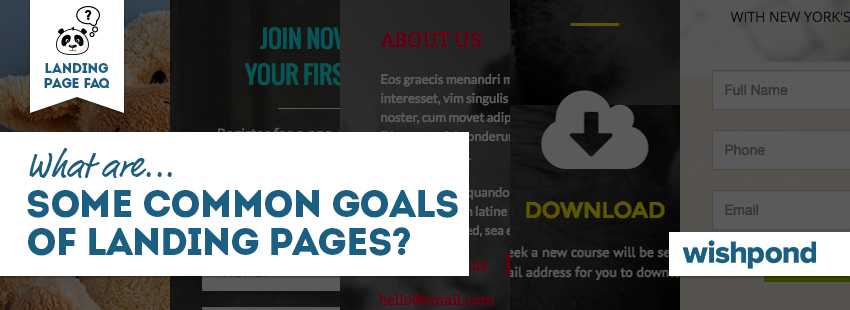 Landing Page FAQ: What are Some Common Goals of Landing Pages?