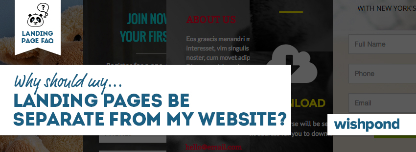 Landing Page FAQ: Why Should my Landing Pages be Separate from My Website?