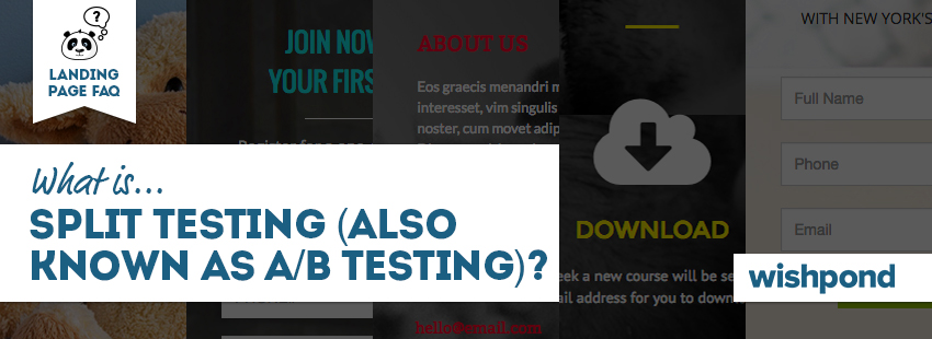 Landing Page FAQ: What is Split Testing (Also Known as A/B Testing)?