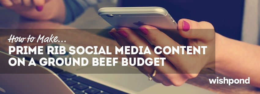How to make prime rib social media content on a ground beef budget