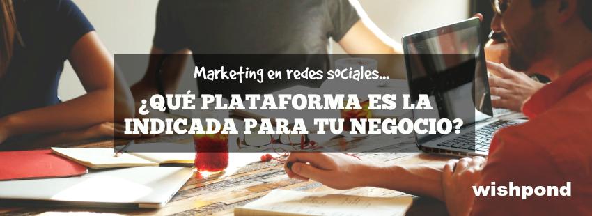 Marketing en redes sociales: ¿Qué plataforma es la indicada para tu negocio?
