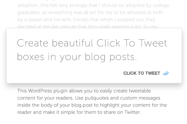 click to tweet plugin
