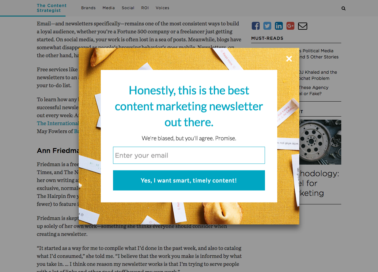 best email popup strategies to boost conversions mailmunchwhile the above example does add a bit of quirkiness to the message, the overall message of the pop up is received loud and clear