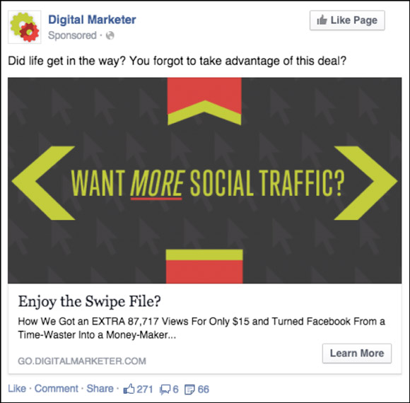 DeadSimple Ways To Get More Agency Clients - Digital marketer facebook ad template
