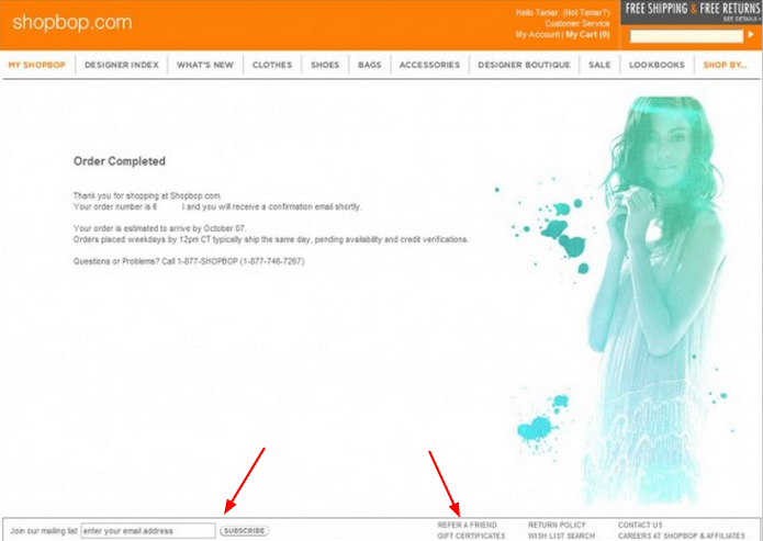 thank you pages
