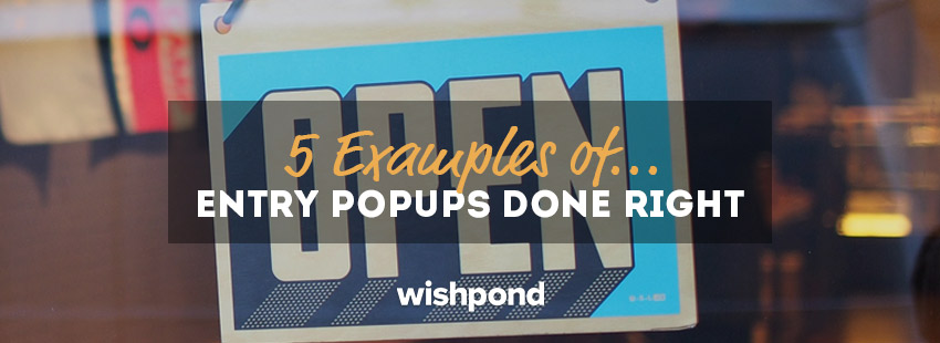 5 Examples of Entry Popups Done Right