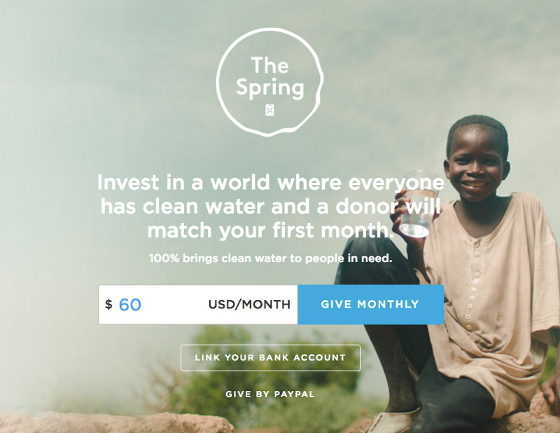 charity water CTA