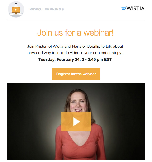 Wistia Call to action