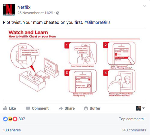 Netflix Facebook Post Humor