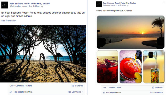 social media marketing for resorts