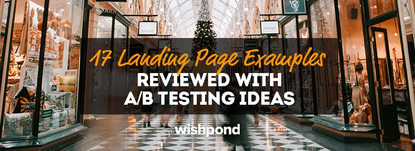 17 Landing Page Examples Reviewed with A/B Testing Ideas