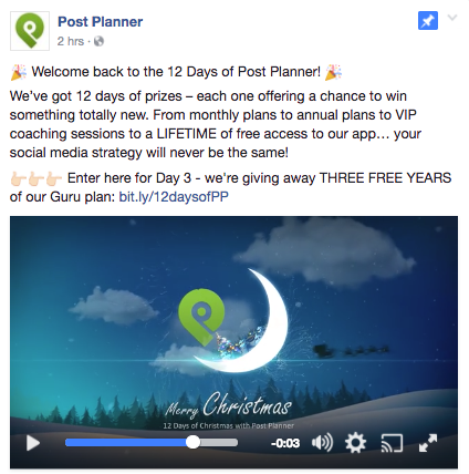 facebook promotion post example