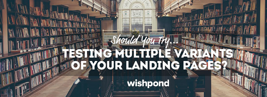 Should You Try Testing Multiple Variants of Your Landing Pages?