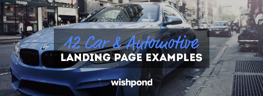 12 Car & Automotive Landing Page Examples