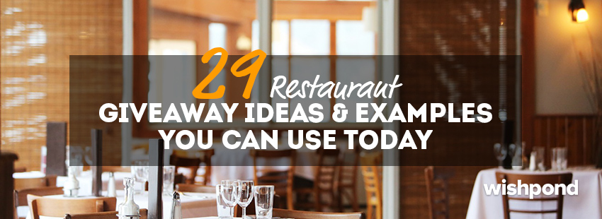 29 Restaurant Giveaway Ideas & Examples You Can Use Today