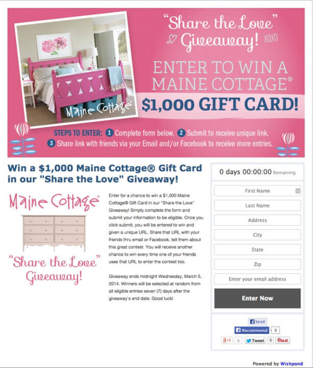 Contests and giveaways baking