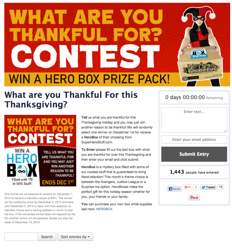 Contest travel blogger sweepstakes