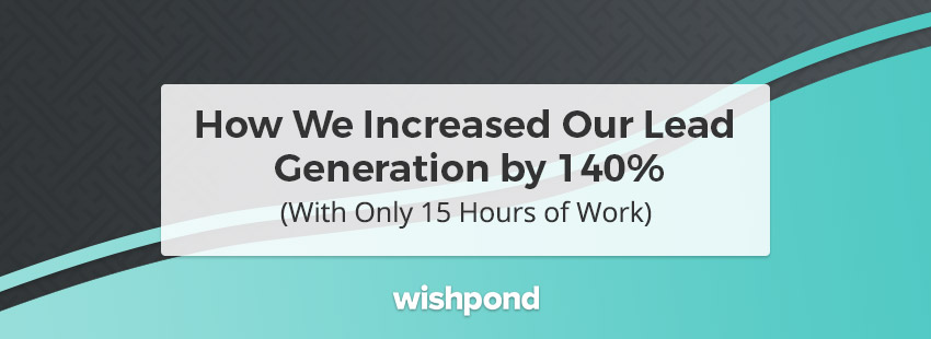 How We Increased Our Lead Generation by 140% (With Only 15 Hours of Work)