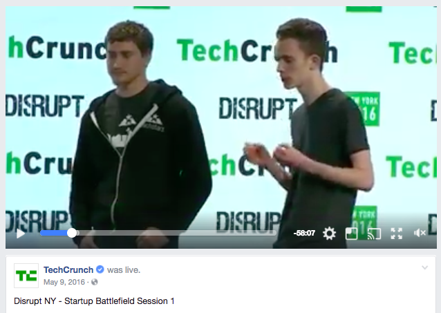 techcrunch facebook live example